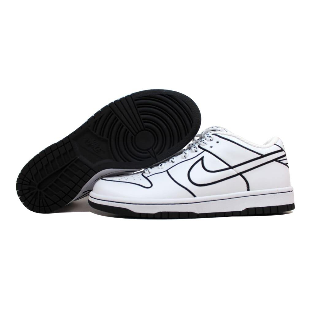 Nike Dunk Low 1 Piece Mujer's Blanco/Blanco-Negro 317857-111 Mujer's Piece SZ 11.5 b00567