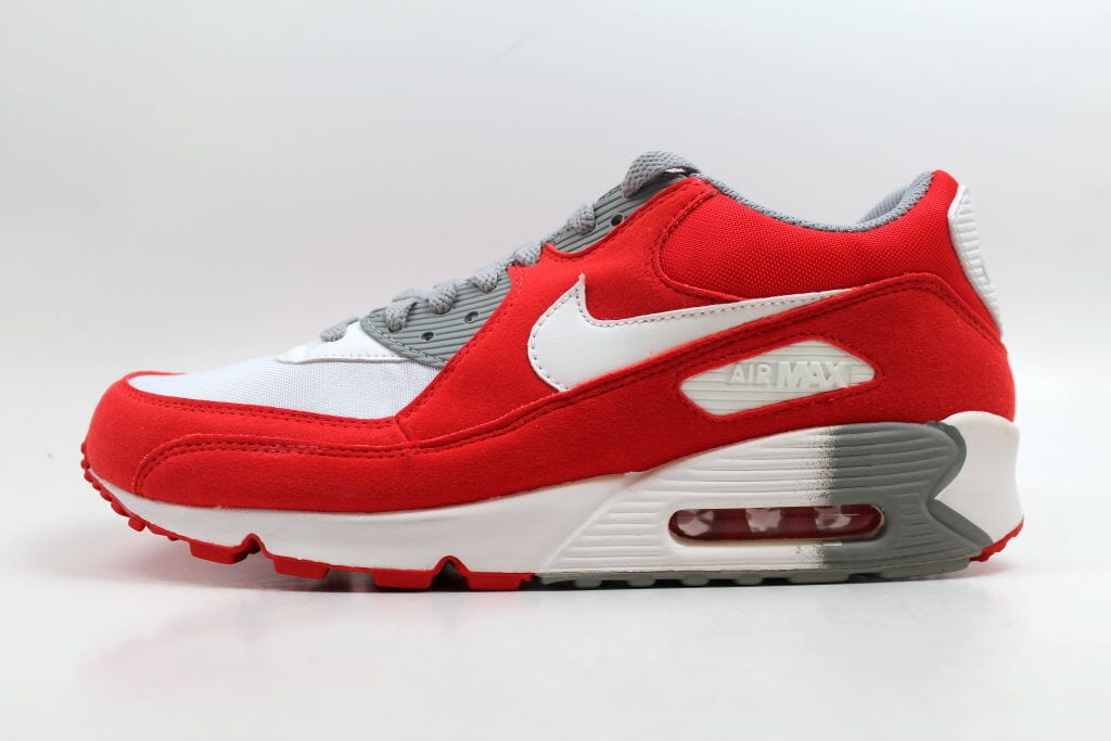 e3a8ebb68c3b Nike Air Max 90 White White-Challenge Red-Medium Grey 325213-116 Women s  Size 12