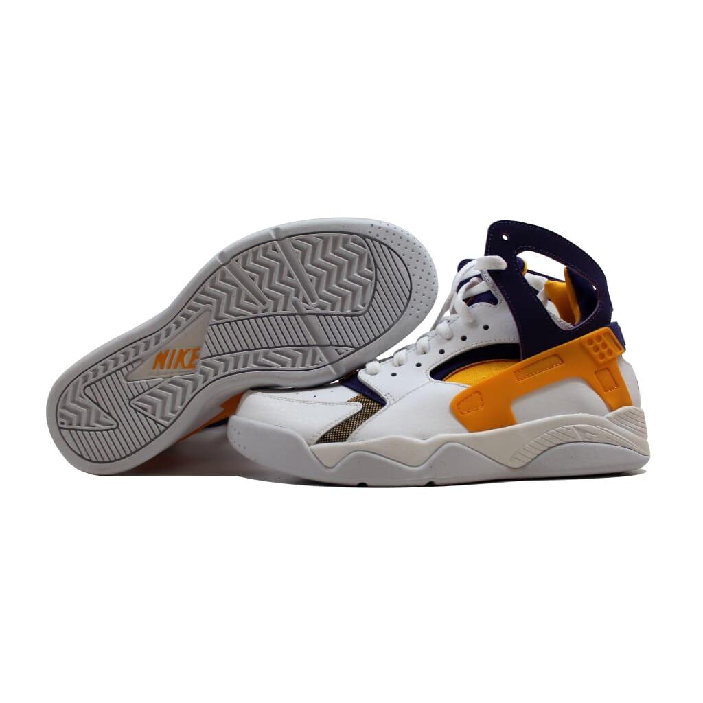 Nike-Air-Flight-Huarache-White-University-Gold-Purple-Lakers-705005-101-SZ-8-5