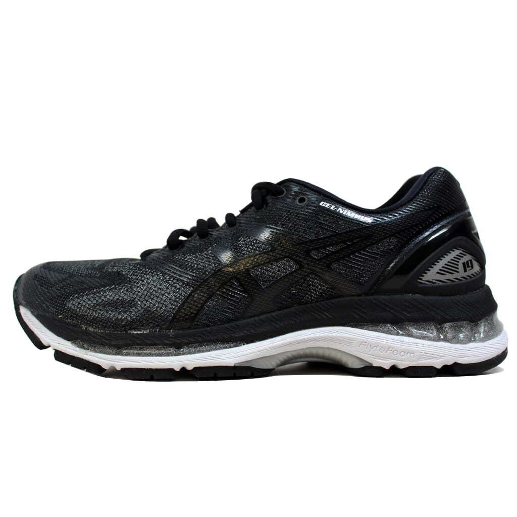 purchase cheap 6f904 e5eff Details about Asics Gel Nimbus 19 Black/Onyx-Silver T750N 9099 Women's Size  7.5