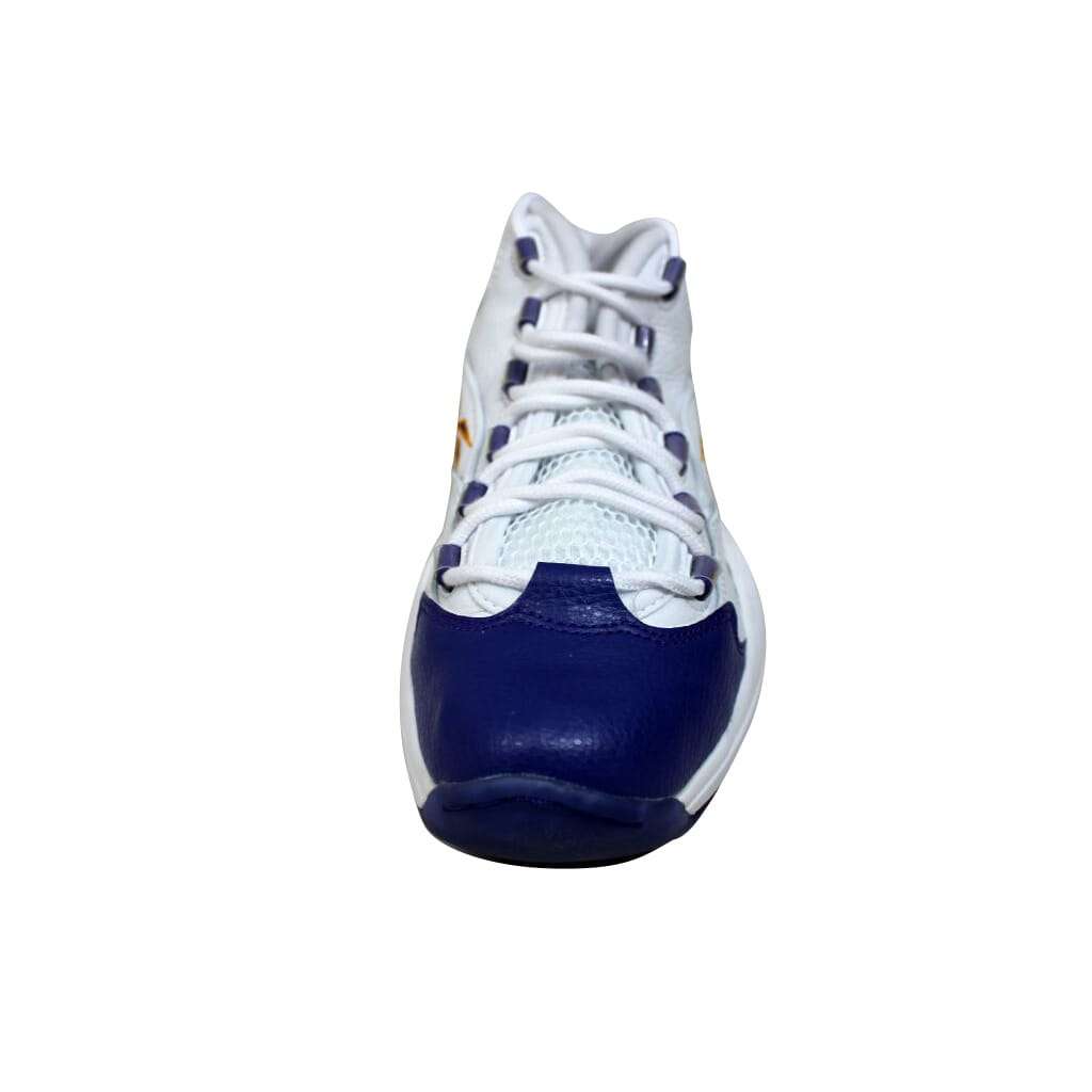 5b76209b4f3a Reebok Question Mid White Purple-Yellow Kobe Bryant V53581 Men s SZ ...