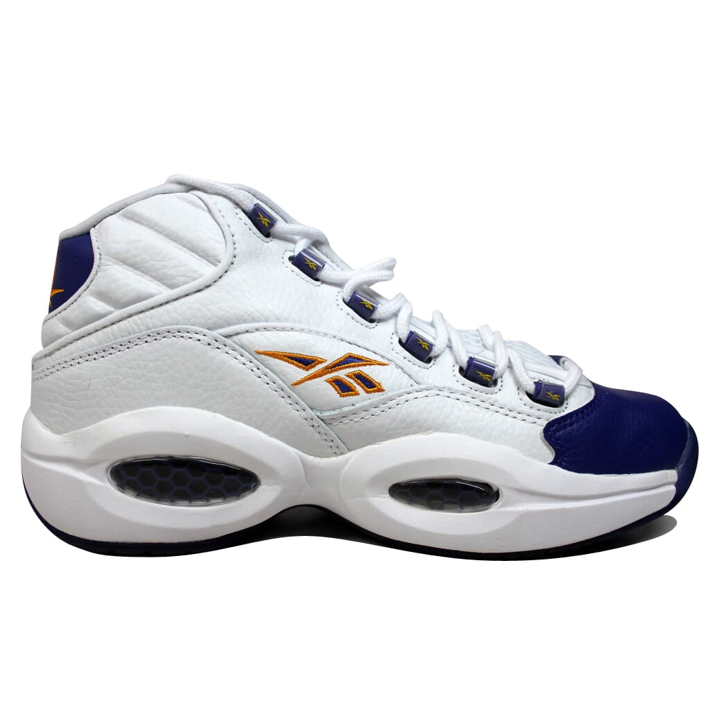 1972fa2ed8f Reebok Question Mid White Purple-Yellow Kobe Bryant V53581 Men s SZ ...