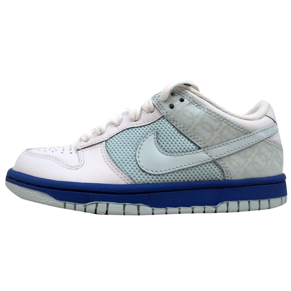 Details about Nike Dunk Low White Glacier Blue-Varsity Blue 317813-141  Women s SZ 11 af4e87f20