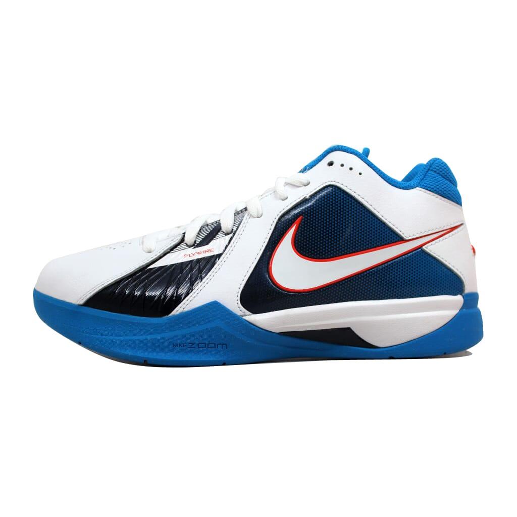 Nike Zoom KD III 3 White White-Team Orange-Photo Blue OKC Home ... 965b49a3384f