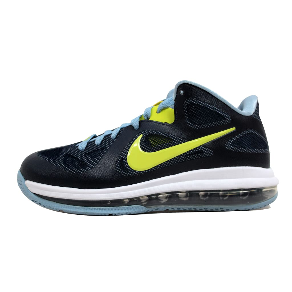 sports shoes f3e54 bb57a Nike Lebron IX 9 Low Obsidian Blue Cyber Green Men s 510811-401 Size 7  Medium