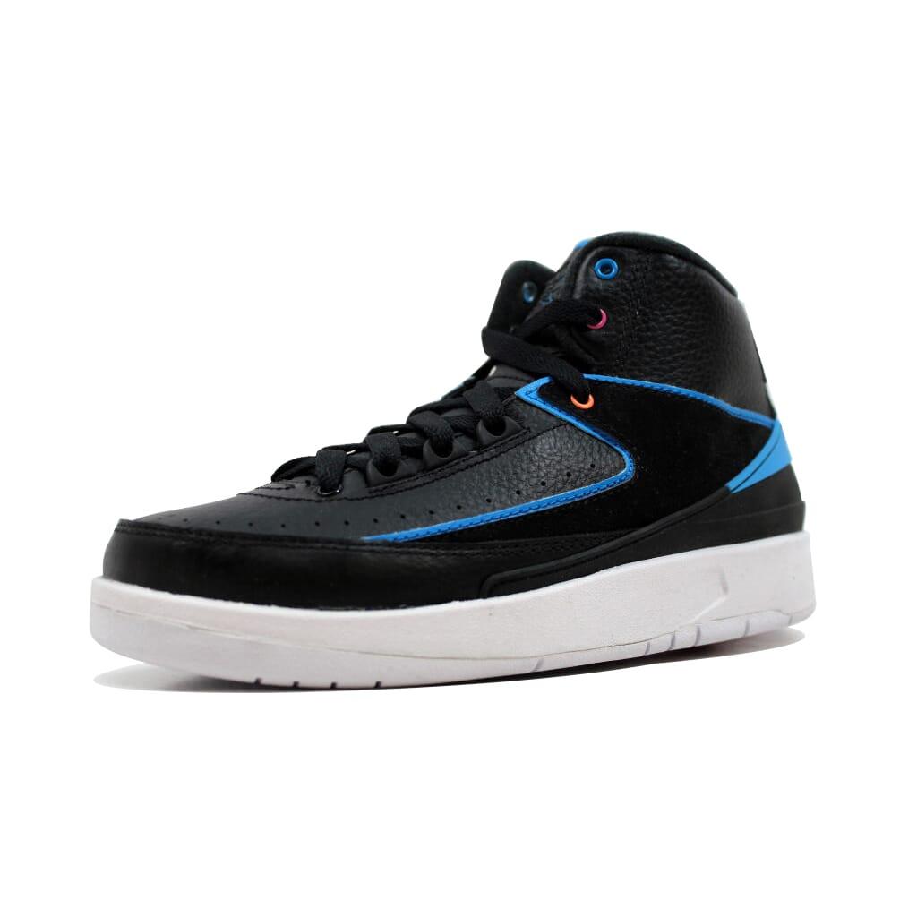 2d9b0ea7c0a2 Details about Nike Air Jordan II 2 Retro BG Black Photo Blue-White-Pink  834276-015 GS SZ 7Y