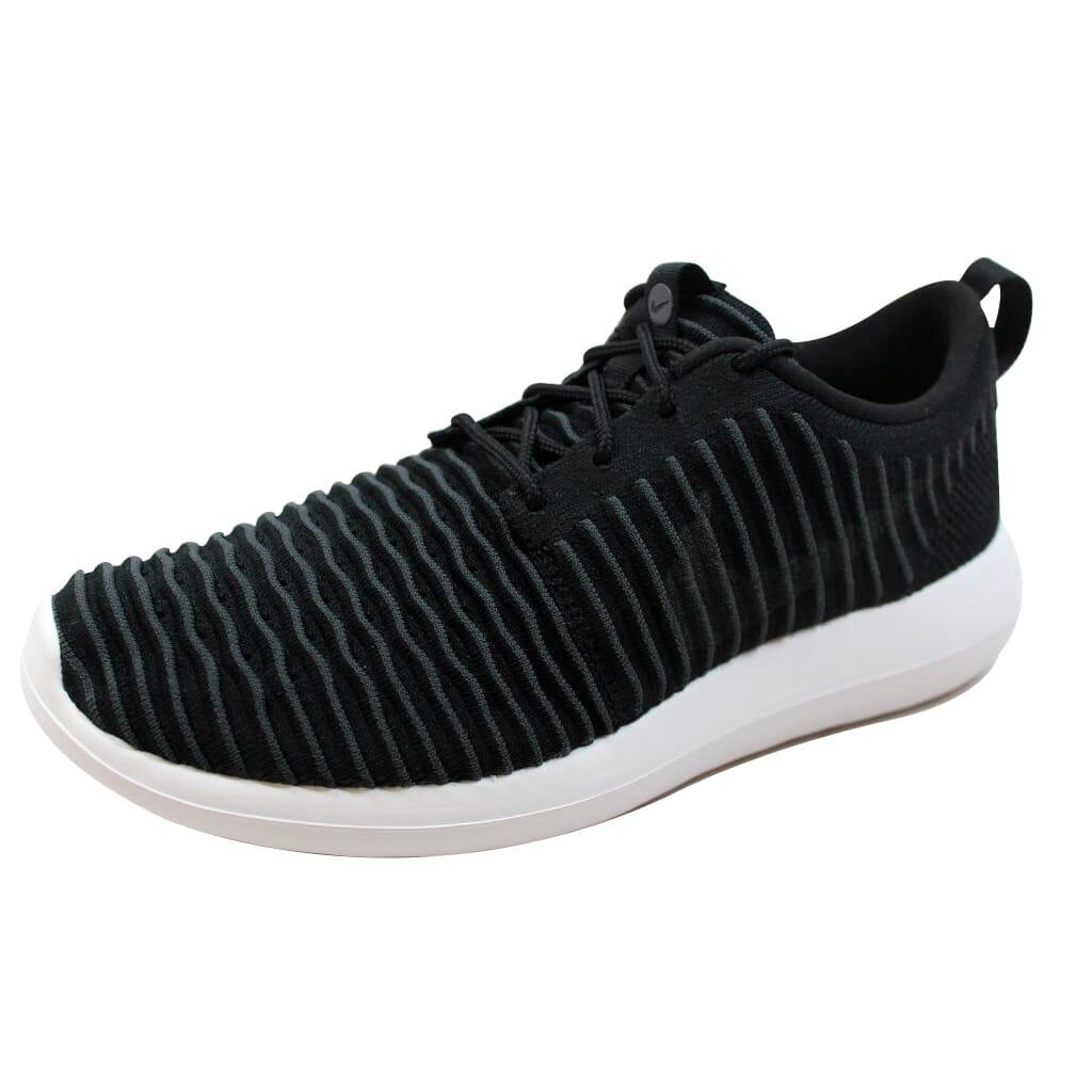 Nike-Roshe-Two-Flyknit-Black-Dark-Grey-White-Volt-844833-001-Men-039-s thumbnail 2