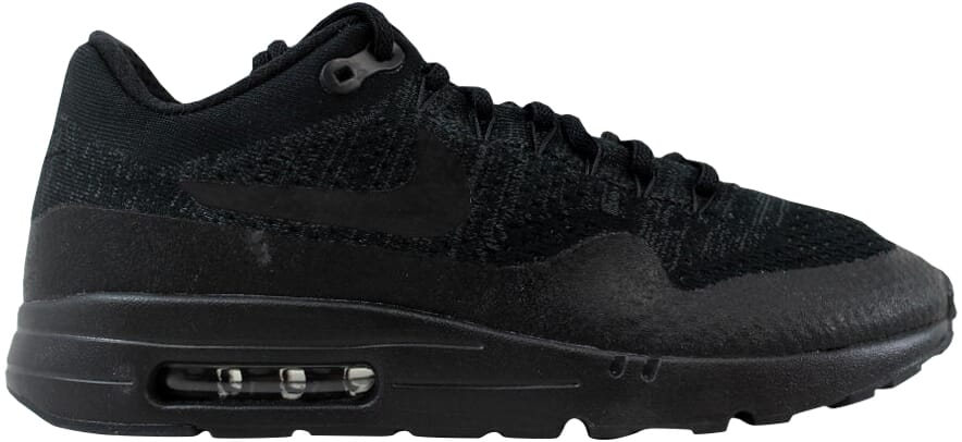 5171a00ada26 Nike Air Max 1 Ultra Flyknit Triple Black Mens Running Shoes SNEAKERS  856958-001 8