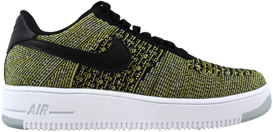 new arrival 23f57 55e94 Image is loading Nike-Air-Force-1-Flyknit-Low-Black-Black-