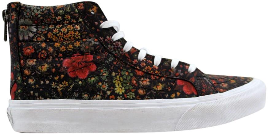 c51901a8c9d7c7 Vans SK8 Hi Slim Zip Floral Leather Multi Color VN000XH8JR1 Men s SZ ...